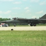 FB 111 Taxing at Plattsburg AFB