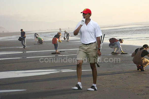 Obama golf on the Gulf