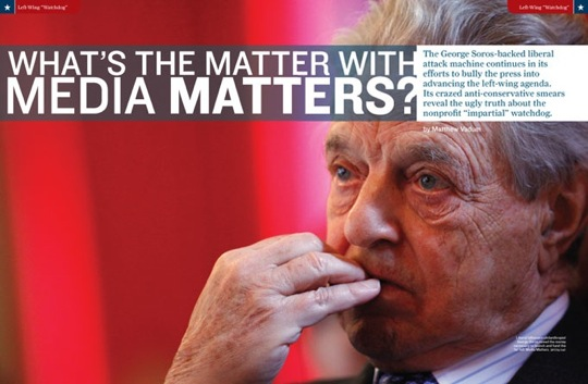 Soros Funded Media Matters Out to Destroy FOX