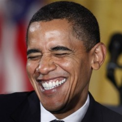 Obama laughing at what he did to America