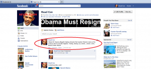 Obama Facebook intimidation