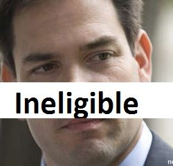 "Marco Rubio is not a ""natural born citizen"""