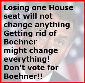 We don't need Boehener's seat