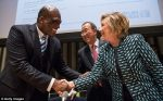 John Ashe and Hillary Clinton